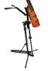 Endpin Stand for NS Design Basses, with bass, mounted onto tripod stand using conversion kit