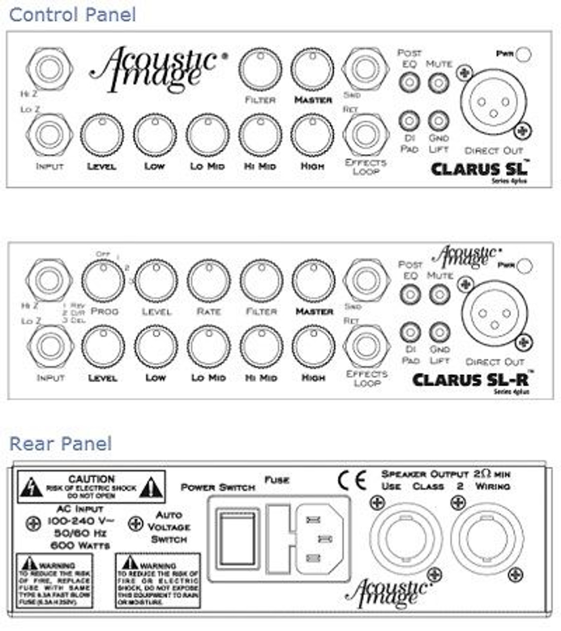 CLARUS SL and SL-R instrument amplifier