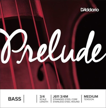 Prelude Medium Upright Bass Strings, standard package front