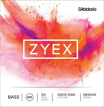 Zyex Upright Bass Strings, standard package front
