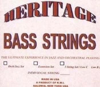 Heritage Upright Bass Strings, standard package