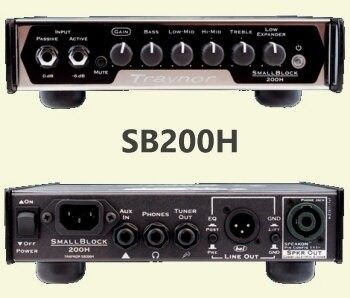 Small Block Lightweight Bass Amplifier Heads (SB200H, SB500H), 200H head