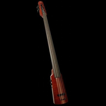 WAV Series Omni Bass by NS Design - Compact Electric Upright Bass, red