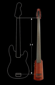 WAV Series Omni Bass by NS Design - Compact Electric Upright Bass