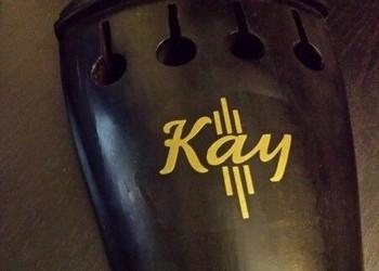 Kay Logo Vinyl Sticker Emblem for Bass Tailpiece, on tailpoiece