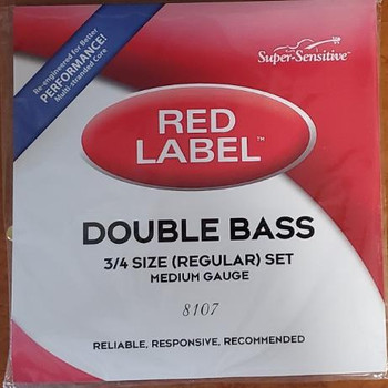 Super-Sensitive Red Label Upright Bass Strings by D'Addario