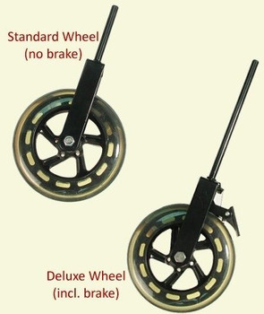 Upright Bass Wheel Glasser solid rubber, models with and without brake
