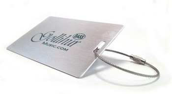 Brushed Aluminum Gig Bag Tag