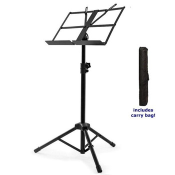 Medium Duty Folding Music Stand with Bag, by nomad