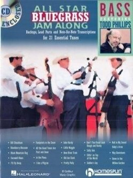 All Star Bluegrass Jam Along for Bass - Book with Audio Play Along, cover