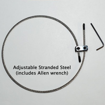 Stranded steel tailgut with adjustable collet