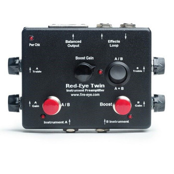 Red-Eye Twin 2-channel Instrument Preamplifier by Fire-Eye, top view