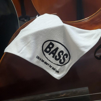 Microfiber Cleaning Cloth/Towel with BASS logo, 3/4 view