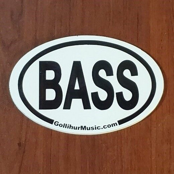 Decorative BASS Oval Logo Magnet