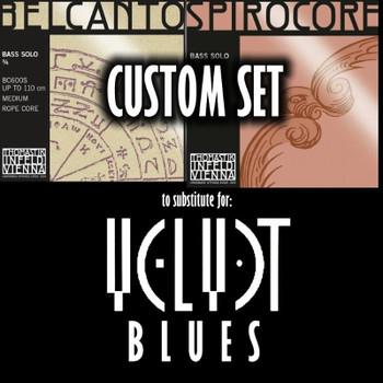 """Belcanto/Spirocore """"Velvet Blues"""" Set, mockup of """"package"""""""