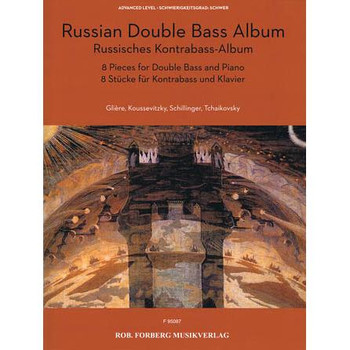 Russian Double Bass Album, string solo repertoire. Cover