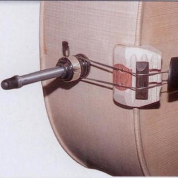Moser HVU - height-adjustable upright bass saddle, shown on bass