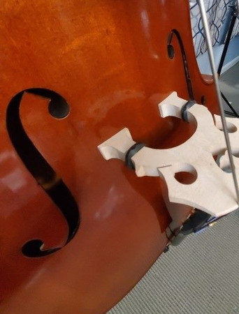 Estle Louis Fully Carved 'Performer' Bass, bridge