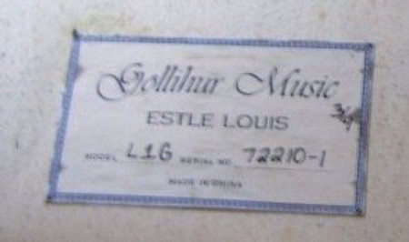 Estle Louis Laminated Bass, serial