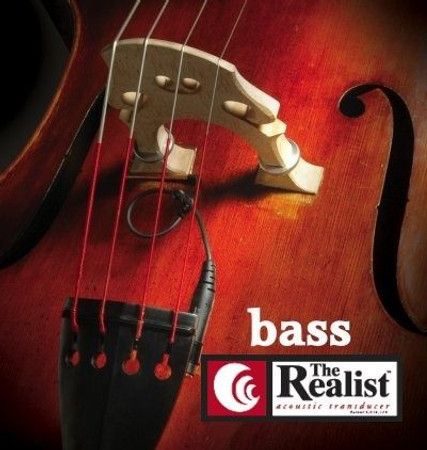 Realist Pickup for Double Bass (Original and Wood Version), installed on bass