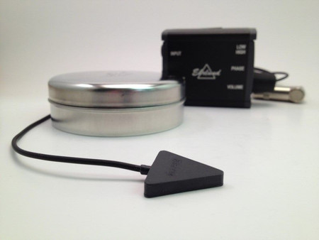 Acoustic Pickup (EAP) Linear Microphone (for Upright Bass), transducer and preamp with container