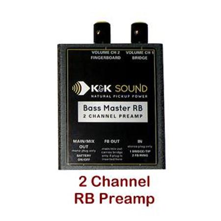 Bass Master Rockabilly PLUS Upright Bass Pickup System, Preamp