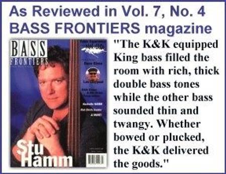 Bass Master Pro Upright Bass Pickup System, endorsement