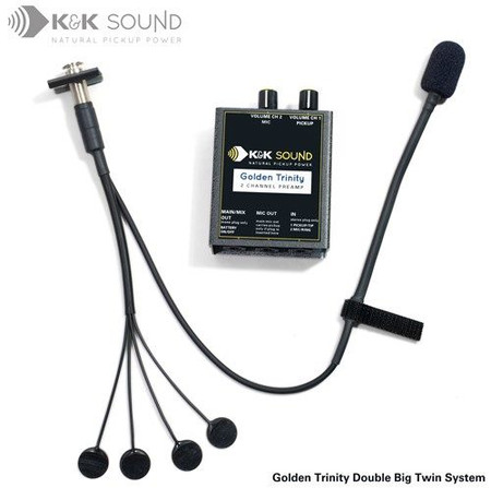 Golden Trinity Microphone/Pickup COMBINATION Systems, double big twin system