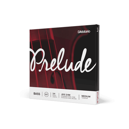 Prelude Medium Upright Bass Strings, standard package side