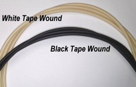 White Tapewound Upright Bass Strings, white and black wound