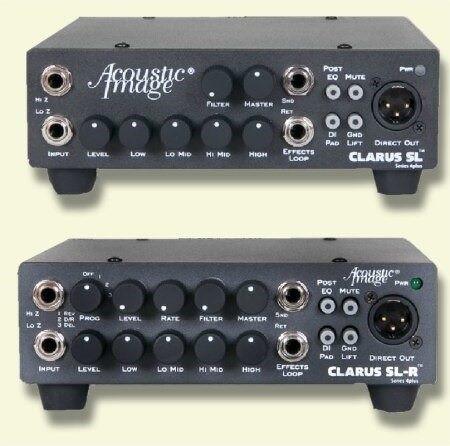 CLARUS SL and SL-R instrument amplifier, amp comparison