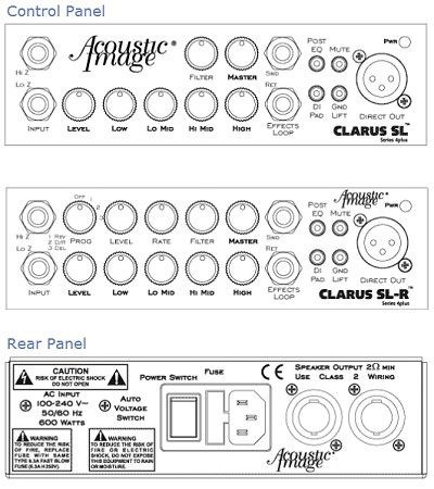CLARUS SL and SL-R instrument amplifier, control amp