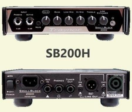 SB106 Ultra-Lightweight Combo Bass Amplifier, control panel