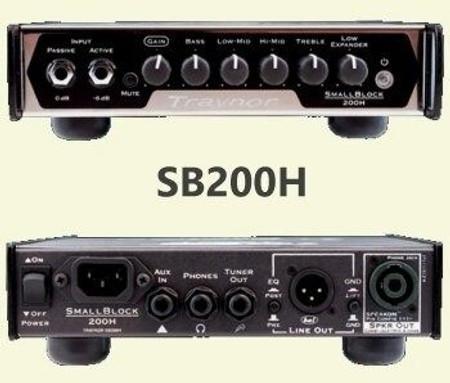 Small Block Lightweight Bass Amplifier Heads (SB200H, SB500H), 200H head