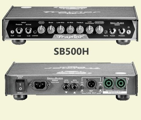Small Block Lightweight Bass Amplifier Heads (SB200H, SB500H), 500H head