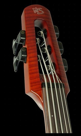 WAV Series Omni Bass by NS Design - Compact Electric Upright Bass, headstock