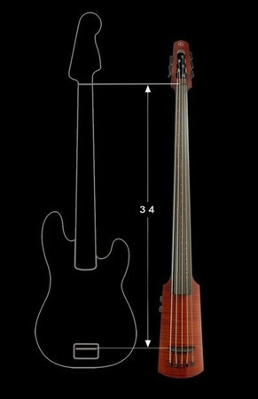 WAV Series Omni Bass by NS Design - Compact Electric Upright Bass, scale length