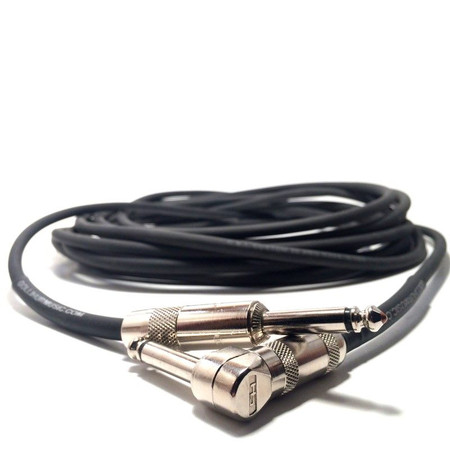 Instrument Cable: 1/4 inch ends (1 right angle), connectors