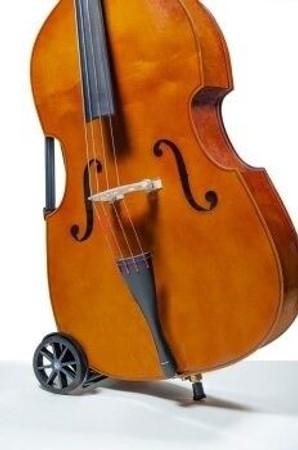Upright Bass Buggie Bass Transporter (Bass Buggy), with bass