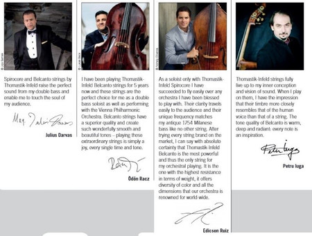 Belcanto Upright Bass Strings by Thomastik, testimonials