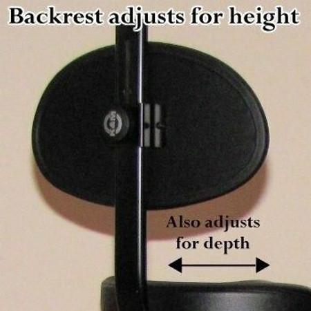 Ultimate Adjustable Folding Stool by K&M (Konig and Meyer), optional backrest