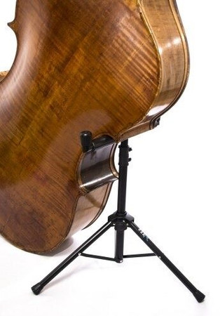 The Bass Bar - Compact 'Laydown Style' Double Bass Stand, holding bass
