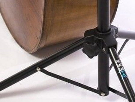 The Bass Bar - Compact 'Laydown Style' Double Bass Stand, alternate view with bass