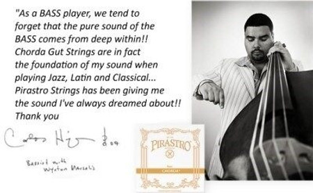 Carlos Henriquez quote concerning his string set