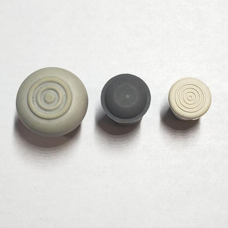 """Economy Rubber Endpin Point Covers (Caps) for Upright Bass in multiple sizes; 1/2"""", 10mm (or 3/8"""") and 8mm. Bottom view."""