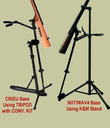 Endpin Stand for NS Design Basses - comparison chart for holding stand options