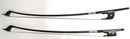Carbon Fiber ARTIST French and German Style Double Bass Bow, full shot