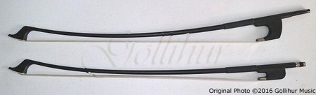 Glasser Double Bass Bow, French and German, wide shot
