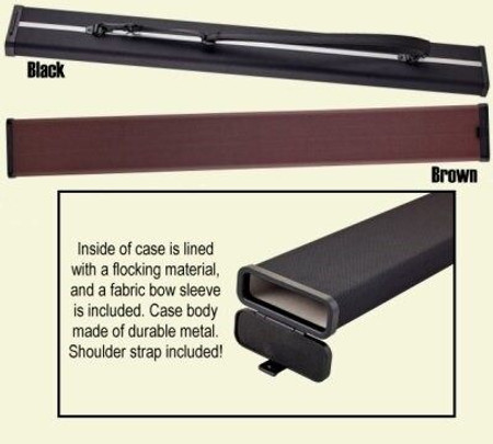 Hardshell Aluminum Bow Case for One Bass Bow, multi-view