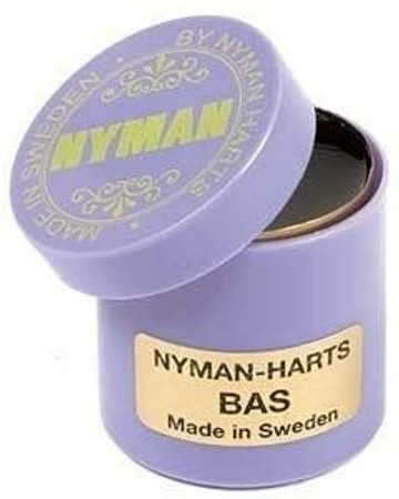 Nyman's Rosin for Upright Bass, open to show detail